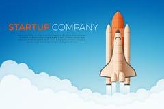 Biznesowego rozpoczęcia pojęcie Rakietowego lub astronautycznego wahadłowa wodowanie ilustracji
