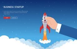 Biznesowego rozpoczęcia sztandaru pojęcie ilustracja wektor
