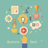 Biznesowego rozpoczęcia wektoru ilustracja Przekładnie Zdjęcia Stock