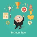 Biznesowego rozpoczęcia ilustracja infographics z Obrazy Stock