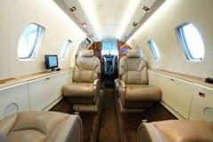 Biznesowego samolotu kabina Fotografia Royalty Free