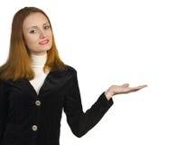 biznesowego seans szyldowa uśmiechnięta kobieta Zdjęcia Stock