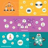 Biznesowego spotkania horyzontalny sztandar ilustracja wektor