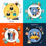 Biznesowego spotkania set Obraz Stock