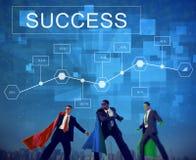 Biznesowego sukcesu osiągnięcia analityka celu pojęcie Zdjęcia Stock