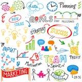 Biznesowego sukcesu strategii pomysłu doodles skrobaniny Zdjęcia Royalty Free