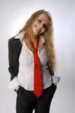 biznesowego szczęśliwego uśmiechu szerokie kobiety Obraz Stock
