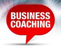 Biznesowego trenowania bąbla Czerwony tło ilustracja wektor
