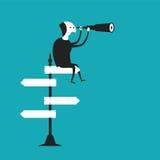 Biznesowego światopoglądu wektorowy pojęcie w płaskim kreskówka stylu Obrazy Stock