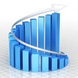 Biznesowego wykresu bar Zdjęcia Stock