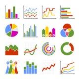 Biznesowego wykresu i diagrama ikony Ustawiać wektor Obraz Royalty Free