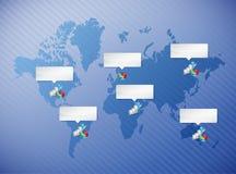 Biznesowego wykresu i pasztetowej mapy ilustracja Obrazy Royalty Free