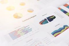 Biznesowego wykresu informaci diagram Zdjęcie Stock