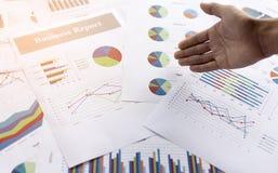 Biznesowego wykresu informaci diagram Obrazy Royalty Free