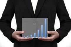 biznesowego wykresu ręki sprzedaży trend biznesowy Obrazy Royalty Free