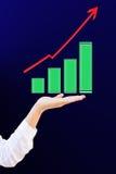 biznesowego wykresu ręka Zdjęcie Stock