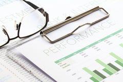 Biznesowego występu analiza Fotografia Stock