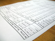 Biznesowego występu konta papieru analiza Zdjęcie Royalty Free