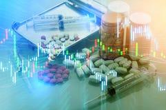 Biznesowego zysku analizy przyszłość i trend zdjęcia stock