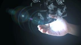Biznesowego zysku przyrosta wykres w ręce zbiory wideo