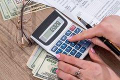 Biznesowej damy podatku podsadzkowa forma 2017 Obraz Royalty Free