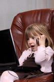 biznesowej dziewczyny mały notatnik Obraz Stock