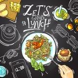 biznesowej filiżanki przydatny emisyjny lunch otwierał Obraz Royalty Free