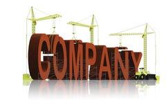 biznesowej firmy budowa royalty ilustracja