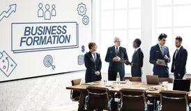 Biznesowej formaci sieci celu ikon grafiki pojęcie Zdjęcie Royalty Free