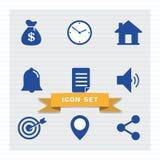 Biznesowej ikony mieszkania ustalony styl ilustracji