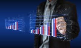 Biznesowej inwestyci planistyczni wykresy Zdjęcia Royalty Free