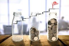 Biznesowej inwestyci wzrostowy Piękny pojęcie Zdjęcie Royalty Free