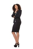 Biznesowej kobiety główkowanie i przyglądający up zdjęcia royalty free