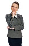 Biznesowej kobiety główkowanie Obrazy Royalty Free
