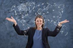 Biznesowej kobiety globalizacja pojęcie Zdjęcia Stock