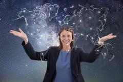 Biznesowej kobiety globalizacja pojęcie Obraz Stock