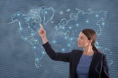 Biznesowej kobiety globalizacja pojęcie Obrazy Stock
