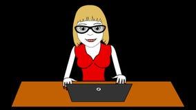 Biznesowej kobiety kresk?wki HD animacja zbiory