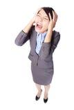 Biznesowej kobiety krzyczeć Zdjęcia Royalty Free