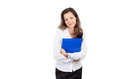 Biznesowej kobiety mienia dokumentu skrzynka Obraz Stock