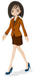 Biznesowej kobiety odprowadzenie ilustracji