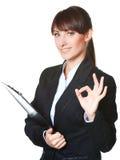 Biznesowej kobiety Ok gest Fotografia Royalty Free
