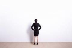 Biznesowej kobiety patrzeć Obraz Royalty Free