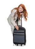 Biznesowej kobiety przewożenia bagaż zdjęcia stock