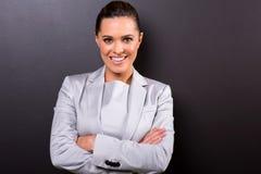 Biznesowej kobiety ręki składać obrazy royalty free