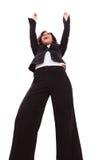 Biznesowej kobiety ręki w powietrzu Obrazy Stock