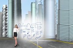 Biznesowej kobiety remis ikony Zdjęcia Stock