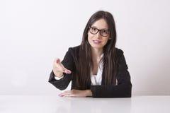Biznesowej kobiety salutować Fotografia Stock