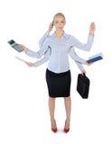 Biznesowej kobiety wielo- dawać zadanie Zdjęcia Royalty Free