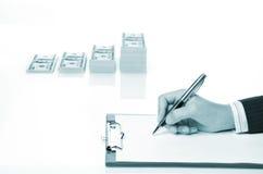 biznesowej kobiety writing Zdjęcie Stock